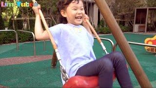 [V-log] 라임 신나는 놀이터 그네타기 놀이를 배우다! | Playground Family Fun for Kids| LimeTube & Toy 라임튜브