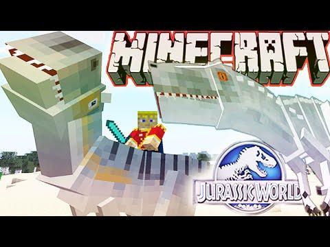Minecraft 1.8 Jurassic World 2.0 Mod Showcase! RIDING DINOS, INDOMINUS REX & MORE!