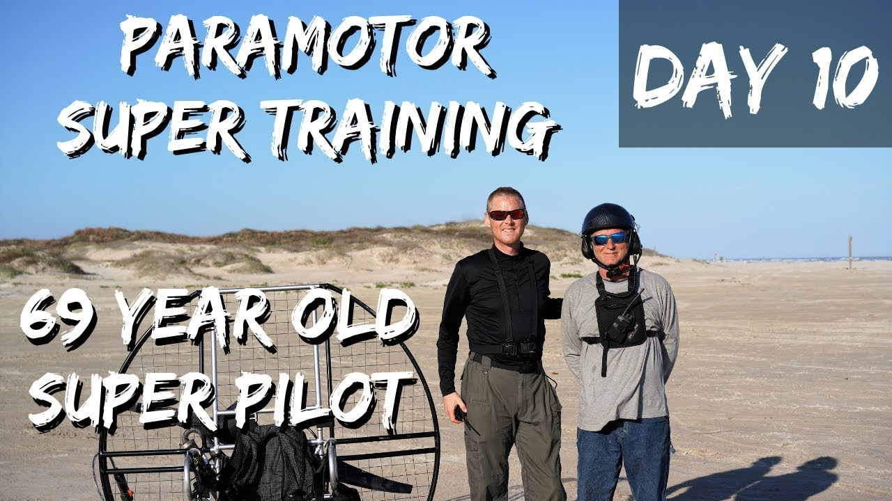 69 Year Old Paramotor SUPER Student!! Two 60 Year Old Super Student Take To  The Sky!!