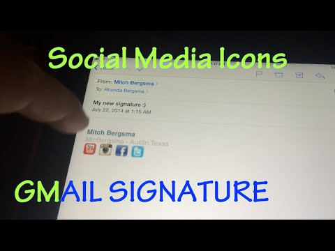 How To Insert Icons Into Gmail Signature