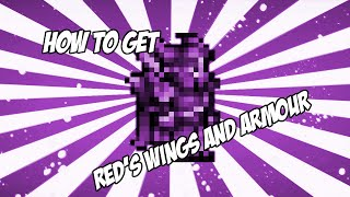 Terraria How To Get Reds Wings/Armour (Works!!!) 2016