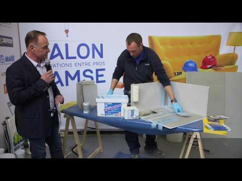 Mapelastic AquaDefense MAPEI - Système d'étanchéité - Démonstration Salon SAMSE 2017