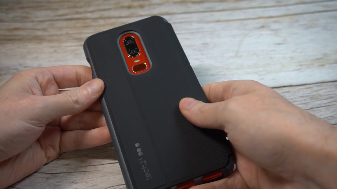 100% authentic b6dbc cf66b Tech21 Evo Flip Case For OnePlus 6 Unboxing and Review