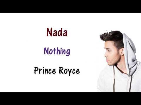 Prince Royce - Nada Lyrics English and Spanish