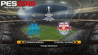 Pes 2018 (pc) marseille v red bull salzburg | uefa europa league semi-final | 26/4/2018