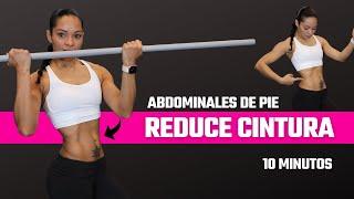 ABDOMINALES DE PIE para Reducir Cintura y Aplanar Abdomen | Entrena con Fitness by Vivi