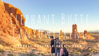 Elephant Butte Canyoneering Route - Arches National Park Utah