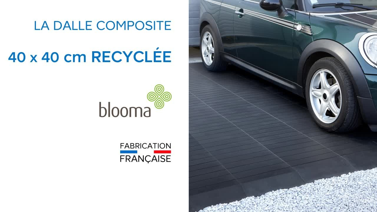 dalle recycl e clipsable 40 x 40 cm blooma 676443