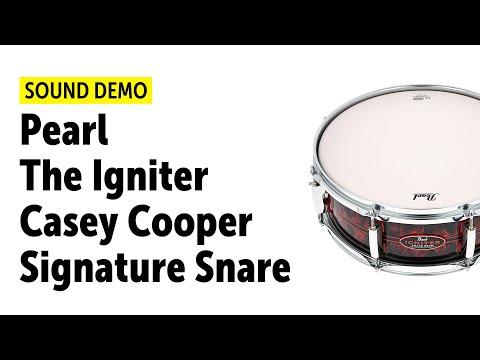 Pearl | Casey Cooper | The Igniter Snare | Sound Demo