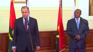Пресс-конференция С.Лаврова и М.Д.Аугушту
