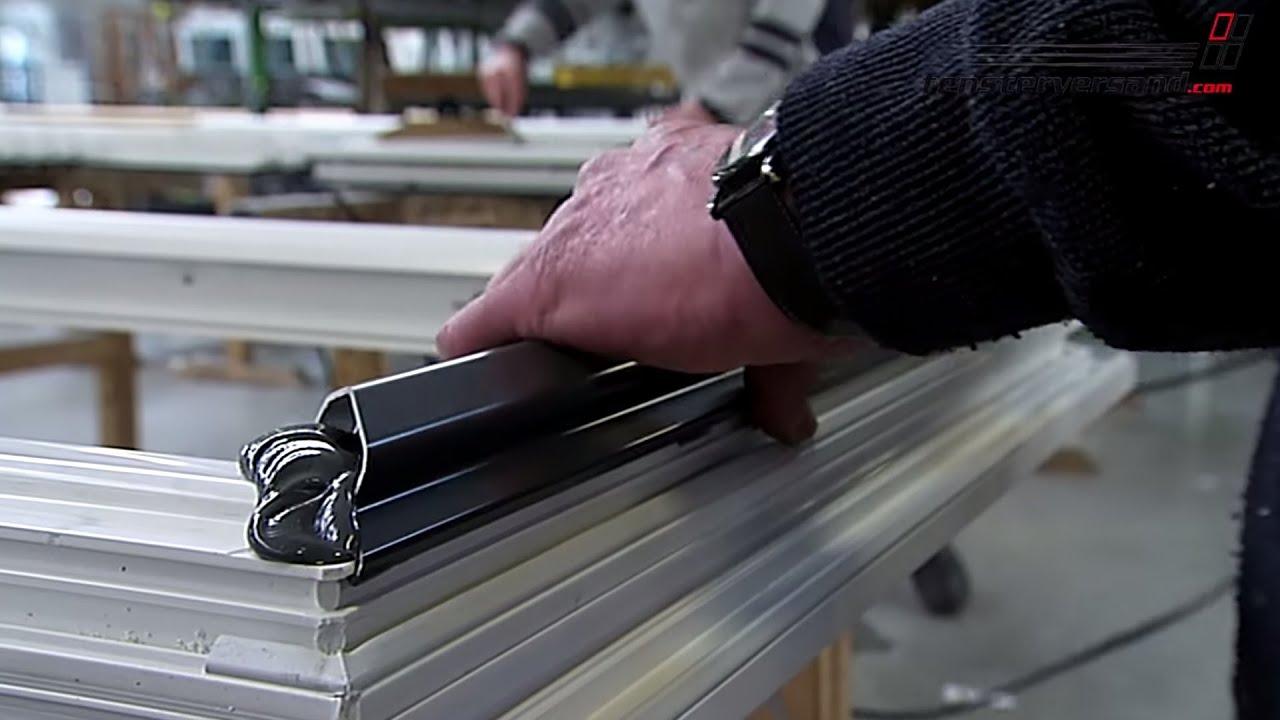 Herstellung Kunststoff- Aluminium- Fenster - fensterversand.com TV ...