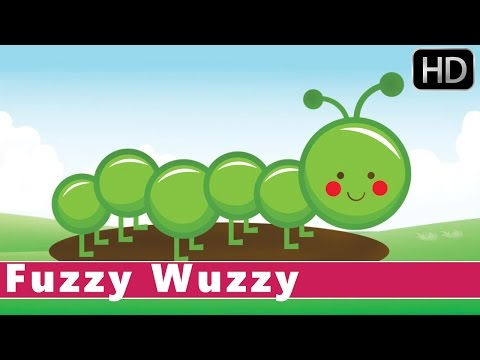Fuzzy Wuzzy Caterpillar | Life Cycle of a Butterfly | Animation Nursery Rhymes For Kids