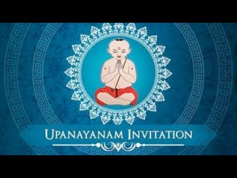 Exclusive Upanayanam Ceremony Invitation Video Thread Ceremony Video Invitation Inviter Com