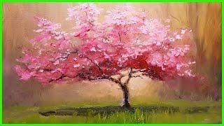 Мастер-Класс по живописи. Пишем Розовое Дерево. +79857776200