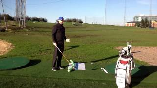 Golf Tip - Swing Down And Away To Cure Your Slice