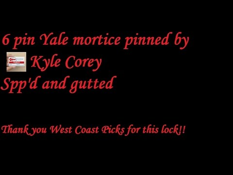Взлом отмычками Yale   (368) 6 pin Yale mortice (pinned by Kyle Corey) Spp