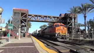 BNSF W/B Stack train going through Fullerton station 2019-03-16
