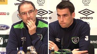 Martin O'Neill & Seamus Coleman Pre-Match Press Conference - Ireland v Wales