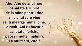 Aho, Aho de anul nou! La multi ani, 2021! - Felicitare muzicala cu urare de anul nou