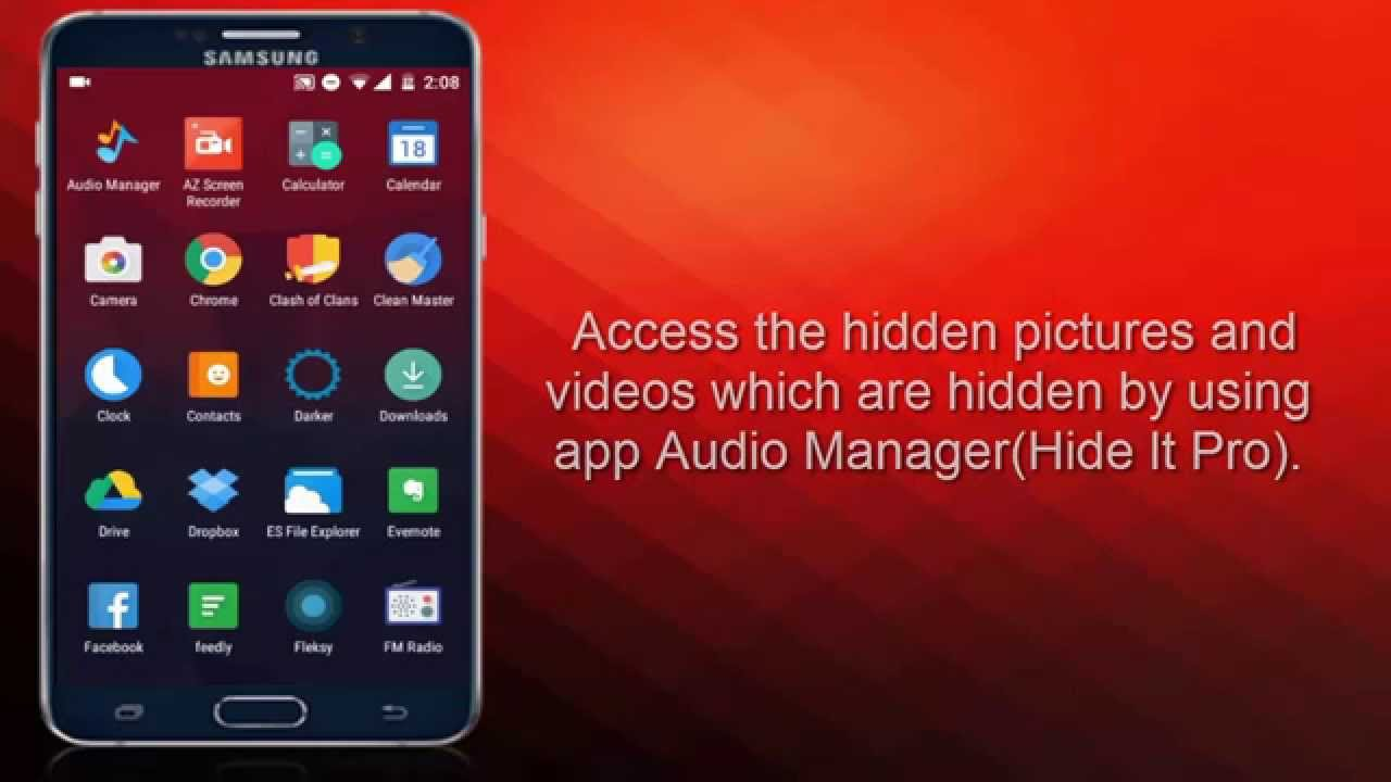 Audio manager hidden files location