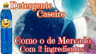 DETERGENTE AZUL POTENTE COM 2 INGREDIENTES E TEXTURA DO DE MERCADO