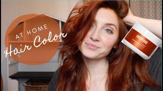 AT HOME HAIR COLOR USING OVERTONE// HAIRDRESSER REVIEW