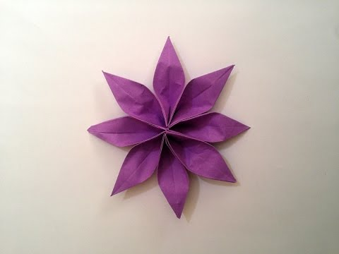 Papercraft How to make: Origami Paper Flower (2 unit)