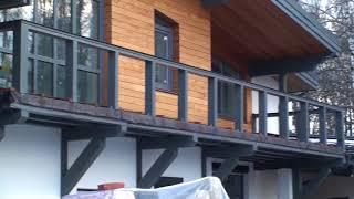 Облицовка фасадов газобетонного дома планкеном и декоративной штукатуркой