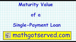 how to calculate the maturity value of a single payment loan personal finance banks credit score bud