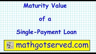 Calculate value to How maturity