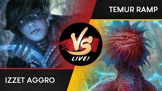 VS Live! | Izzet Aggro vs Temur Ramp | Guilds of Ravnica Standard
