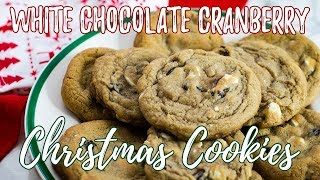 White Chocolate Cranberry Cookies | The Starving Chef