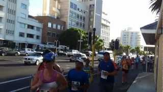 EXTREME RUNNING FOR PALESTINE ON THE STREETS OF SEAPOINT A KNOWN JEWISH AREA