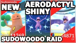 SHINY AERODACTYL RAIDS & SUDOWOODO RAIDS IN POKEMON GO | WILL I GET A SHINY?