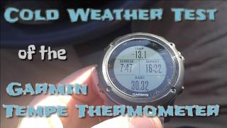 Garmin Tempe Thermometer : Extreme Cold Weather Test