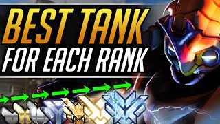 TOP TANKS YOU MUST PLAY at Every Rank - Best Tips to CARRY and CLIMB   Overwatch Pro Ranked Guide