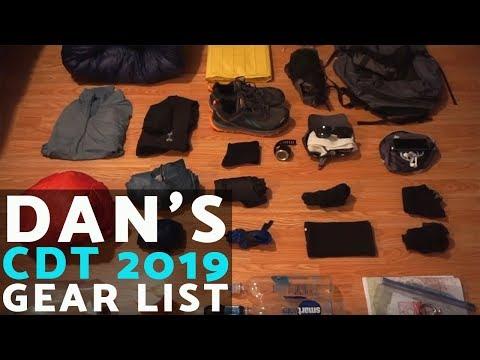 dan's-2019-continental-divide-trail-gear-list