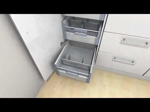 orga line for blum internal larders youtube. Black Bedroom Furniture Sets. Home Design Ideas