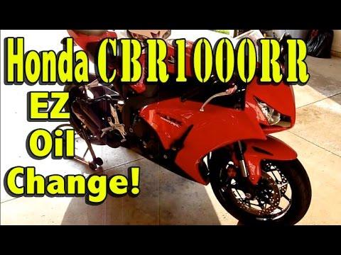 Honda CBR1000rr Fireblade Oil Change DIY - 2012-2016