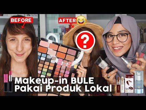 Tutorial Makeup Indonesia diwajah Bule Pakai Product 100% Indonesia