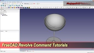 FreeCAD 3D Glass | Revolve Command | Basic Tutorial