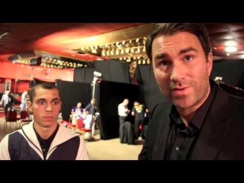 INTERVIEW WITH SCOTT QUIGG & EDDIE HEARN AS QUIGG v SALINAS NOW ON JOSHUA SHOW AT THE O2 (OCT 5)