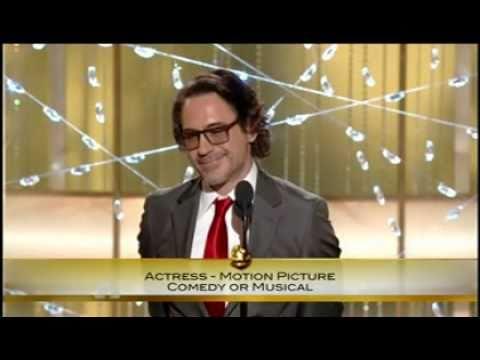 Robert Downey Jr's  'seductive' speech Golden Globes 16\01\ 2011