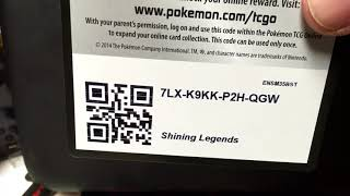TCG Codes blast. 30 Code giveaway. Shining Legends Pokemon
