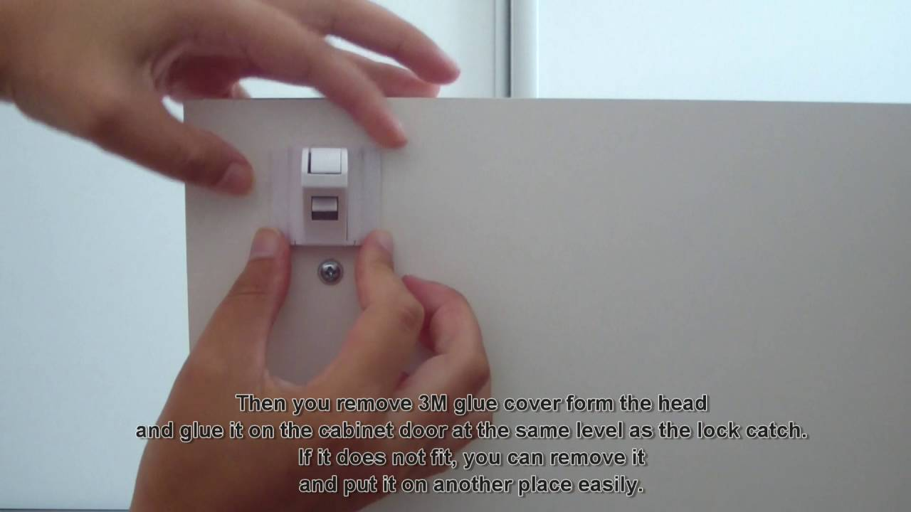 Amazing Baby Child Safety Magnetic Lock For Cabinet, Drawer, Cupboard   With  Subtitles