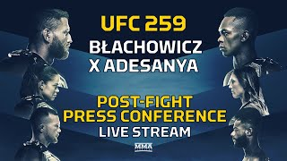 UFC 259: Blachowicz vs. Adesanya Post-Fight Press Conference LIVE Stream - MMA Fighting
