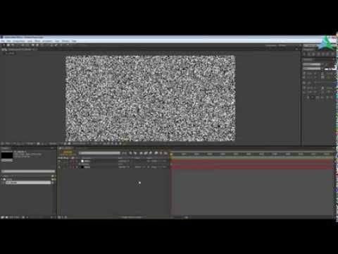 How To Create Tv Static Snow In After Effects Youtube