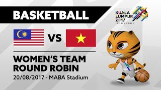 KL2017 29th SEA Games | Women's Basketball - MAS 🇲🇾 vs VIE 🇻🇳 | 20/08