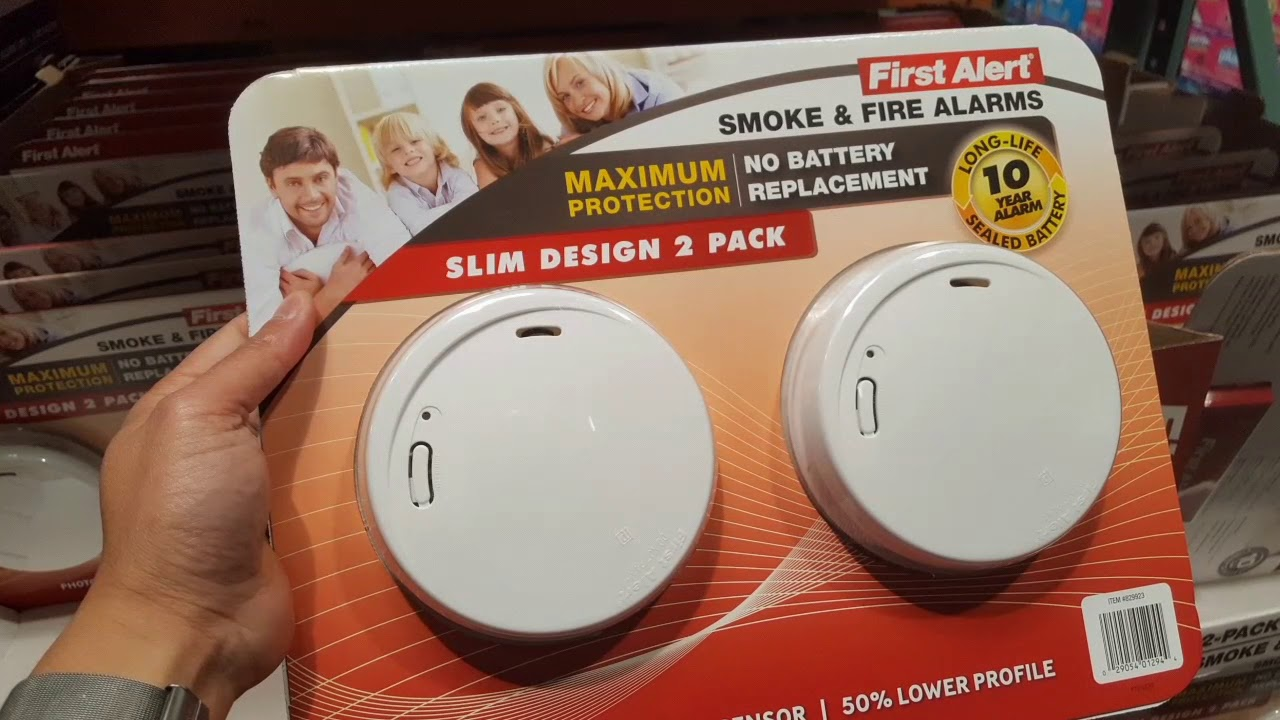 Costco First Alert Smoke Detector 10 year battery 2 PACK 29 YouTube