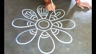 Big size Amazing Rangoli designs/ Special Alpana designs by Art Gallery